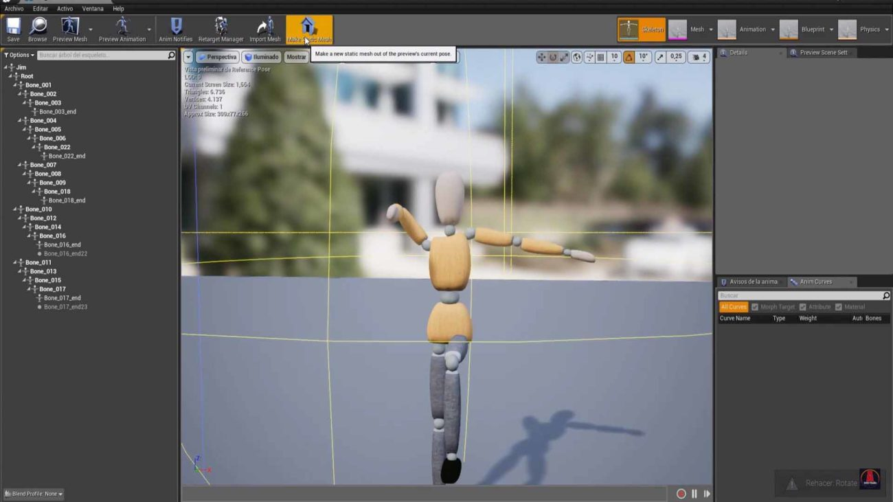 mesh unreal engine 4