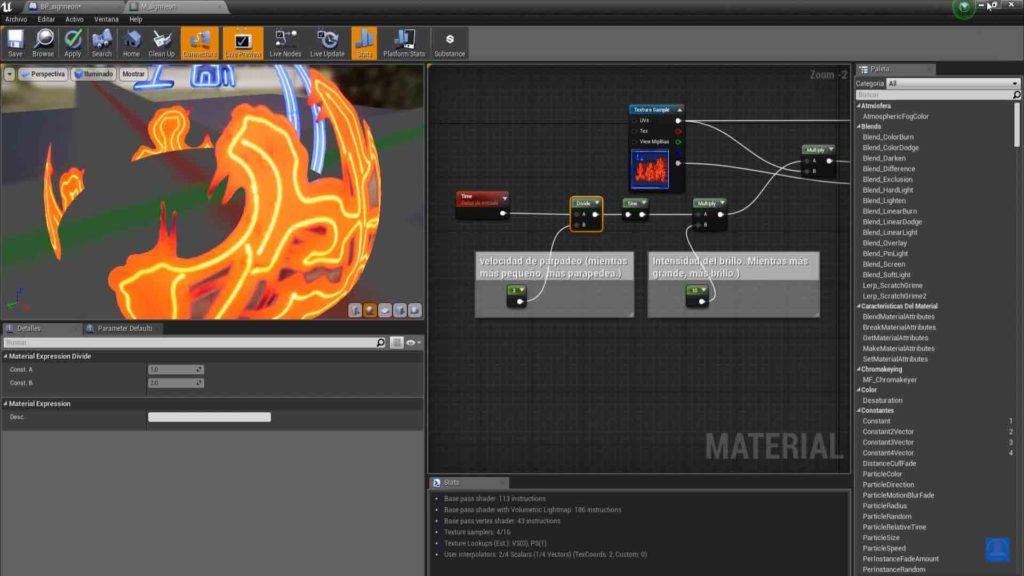 tutorial materiales ue4
