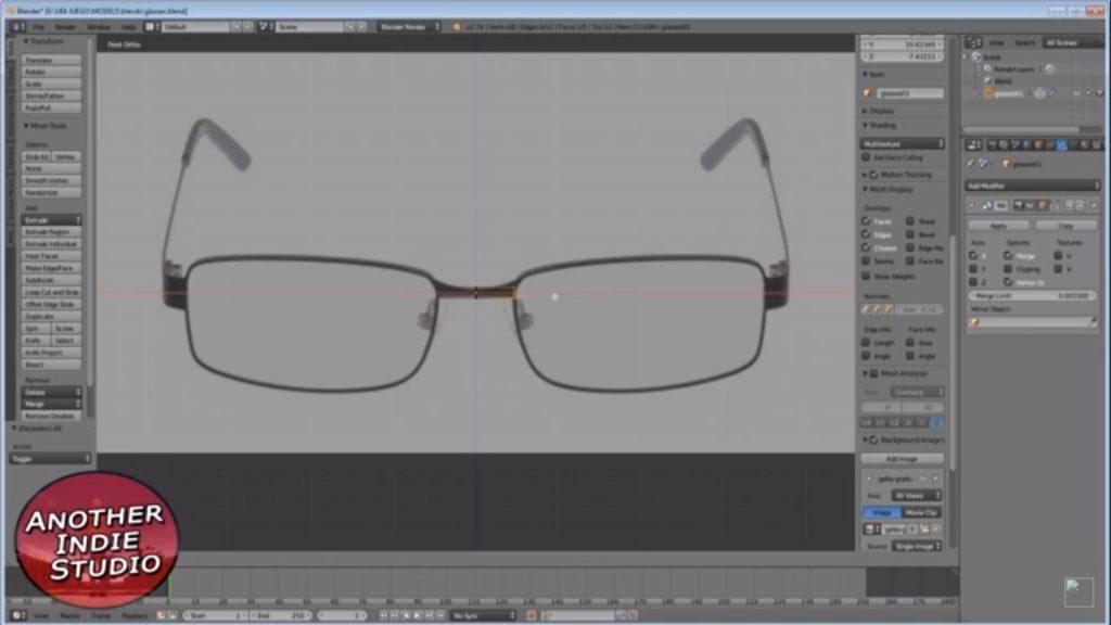 glasses in blender