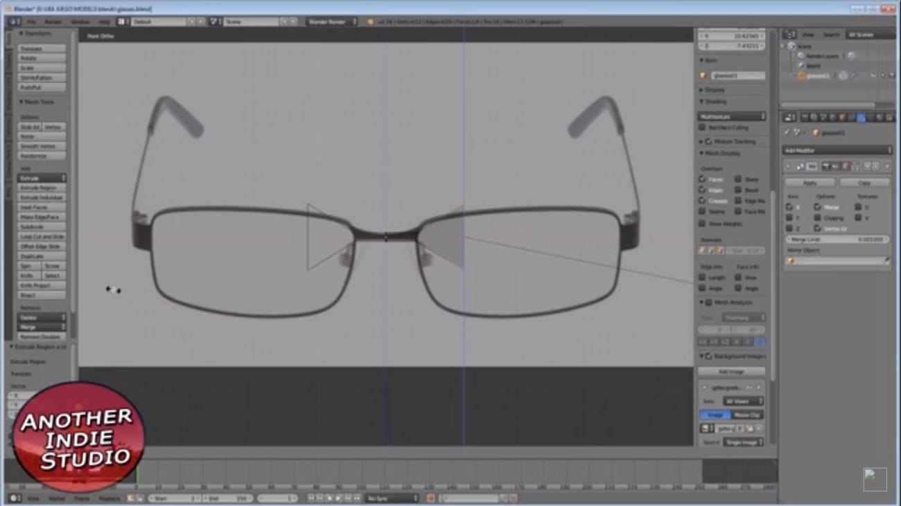 cristal gafas 3d