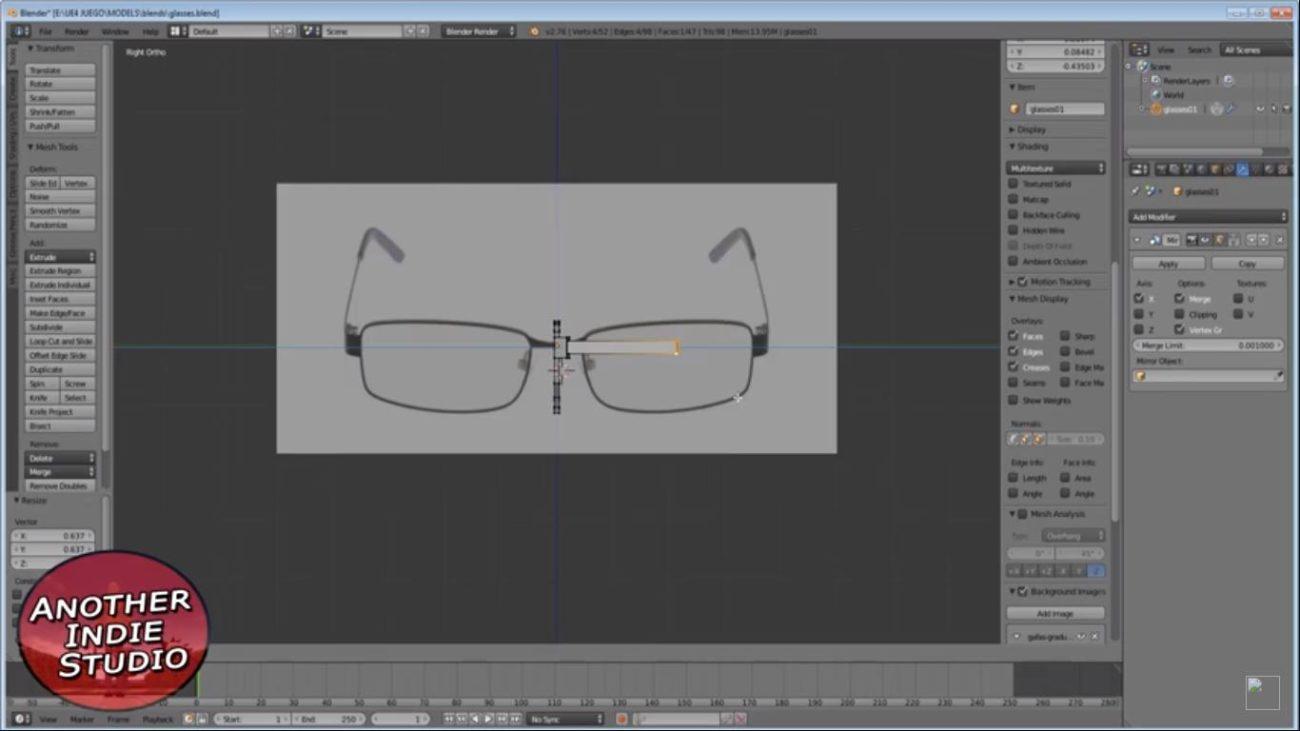 gafas de perfil