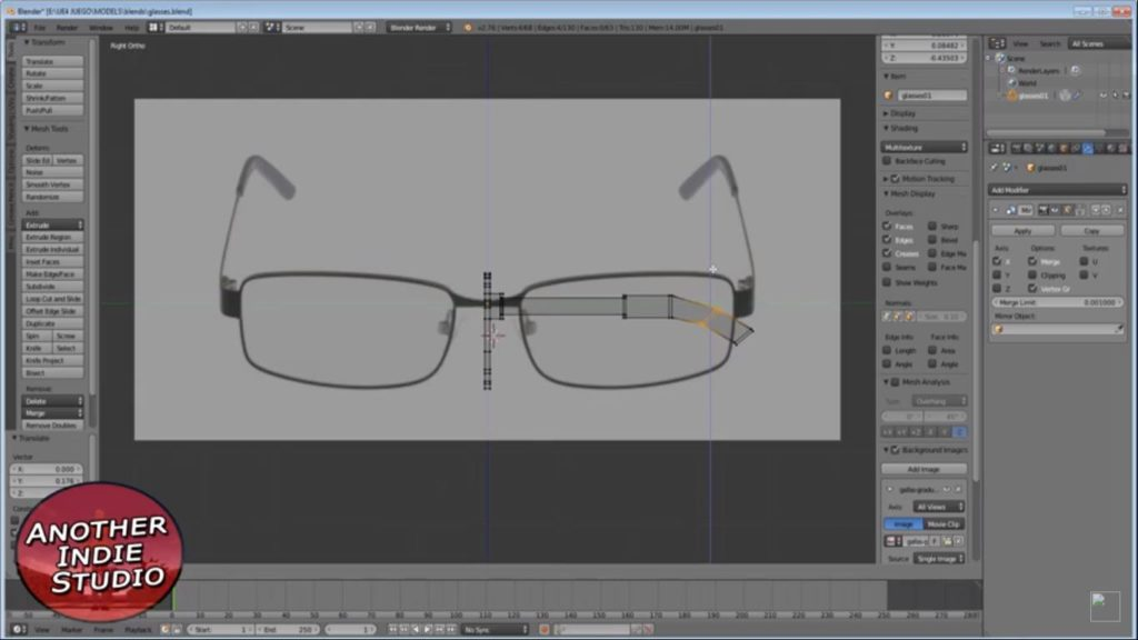 glasses on profile