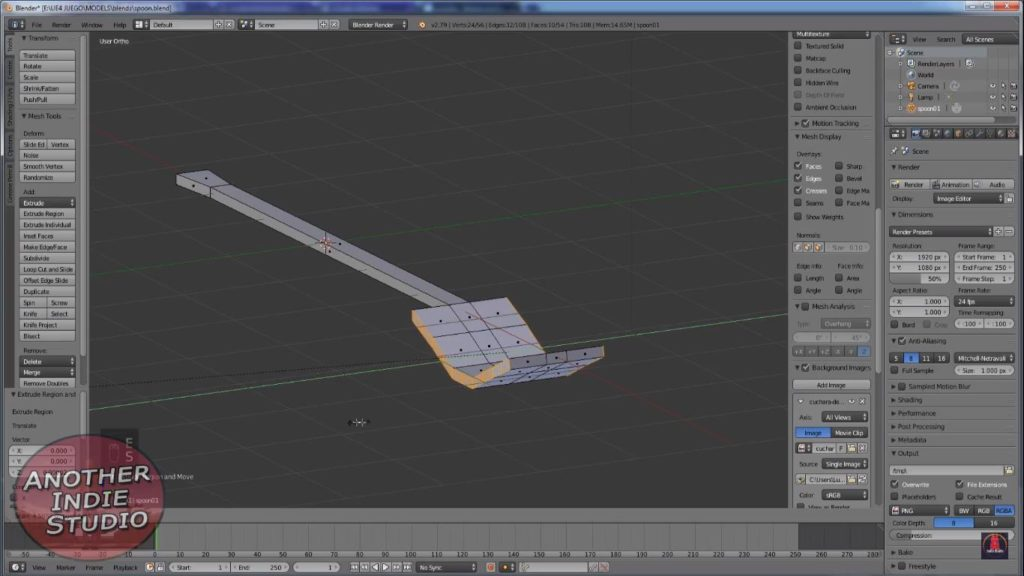aprender a modelar una cuchara en blender