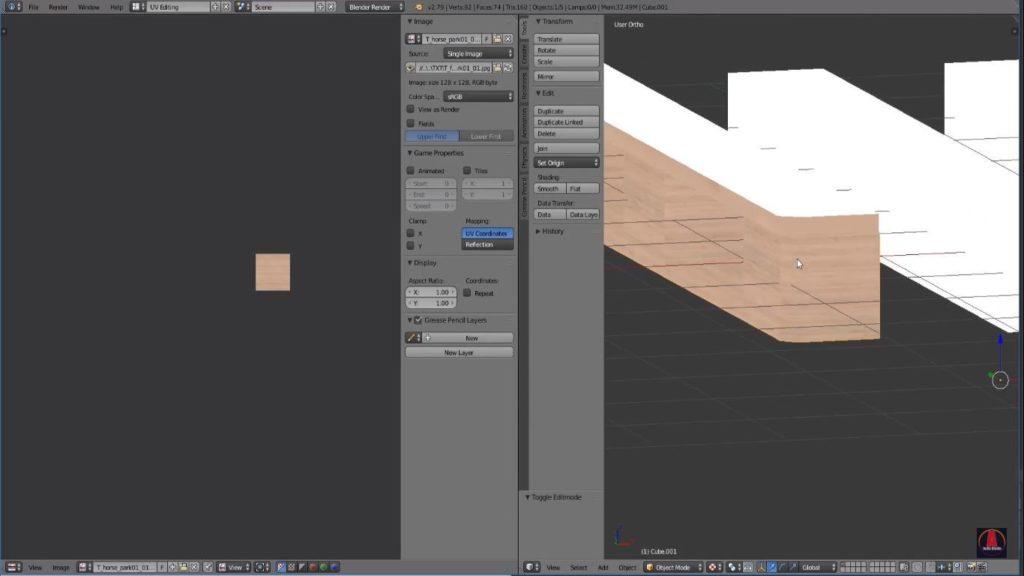 textura blender edit mode